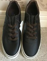 MENS POLO RALPH LAUREN HANFORD LEATHER SHOES/TRAINERS/SNEAKERS SIZE 7 BROWN NEW