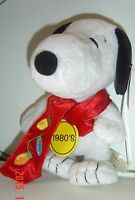 NEW SNOOPY Plush PEANUTS 2009 Celebrate 60 Years 1980's Style Ornament Scarf