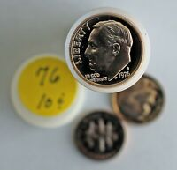 1976 Roosevelt Clad Proof Dimes Roll 10c US Coins Ten Cents Clad Proof Coins