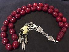 🔥Tesbih 🔥Sıkma Kehribar /Gebetskette Prayerbeads Cherry Osmanli  Benzetme