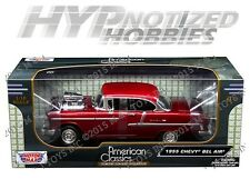 MOTOR MAX 1:18 1955 CHEVROLET BEL AIR DIE-CAST RED 79002