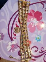 Sorrelli Crystal Clear Gold-Tone Multi-Strand and Mirror Chain Bracelet, 7 inch