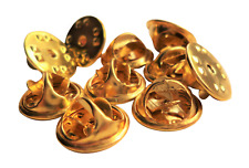 More details for 500 x butterfly clasps for pin badges - spares or  replacements