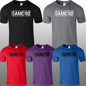 Samcro Sons Of Anarchy Mens T Shirt Inspired TV Biker Motorcycle Kids Top Tee