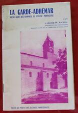1966 - LA GARDE-ADHÉMAR ND des Nymphes, Abbé R Avril