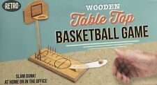 NEW WOODEN TABLE TOP FINGER BASKETBALL GAME SLAM DUNK AT HOME OR IN THE OFFICE