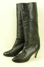 L'AUTRE CHOSE * ITALY * LUXURY BOOT IN A SOFT & SUPPLE BLACK NAPA / 37 / SUPERB