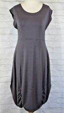 Masai Clothing Co Blue Grey Thin Stripe Dress Size M Gathered Hem Sleeveless