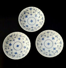 3 Myott England Blue & White Floral FINLANDIA Cereal Bowls_Set of THREE (D50)