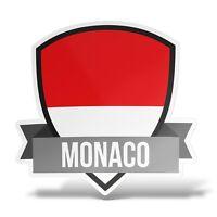 Sticker MONACO Adesivo Parete Souvenir Decal Laptop Casco Auto Moto Murale