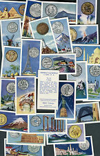 "AMALGAMATED TOBACCO 1961 SET OF 25 ""COINS OF THE WORLD"" MONEY CIGARETTE CARDS"