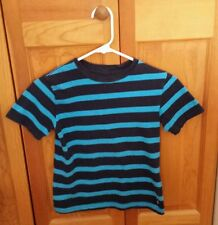 GAP KIDS, SIZE SMALL (6-7) TURQUOISE BLUE STRIPED SHIRT