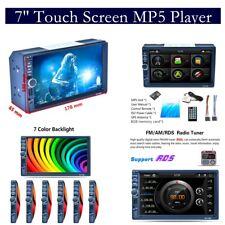 2-DIN 7 in (ca. 17.78 cm) Touch Auto Lettore MP5 con GPS Bluetooth RDS Radio Stereo Aux