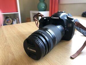 Canon EOS 60D 18.0MP Digital SLR Camera (w/ EF 75-300mm, camera bag, filter)
