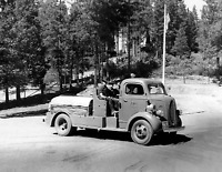 "1940 US Forest Service Fire Truck, CA Vintage Old Photo 8.5"" x 11"" Reprint"