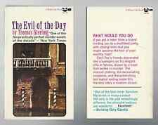 """The Evil of the Day - Thomas Sterling - """"Perfect murder novel"""" - New York Times"""