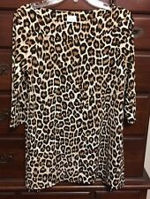 Chico's Noble Cheetah Portrait Top Size Size 0 (4/6 S) NWT