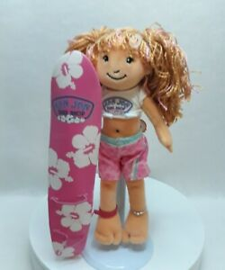 NEW! Groovy Girls Plush Surfer Doll Ron Jon Shop Special Edition Pink Surf Board