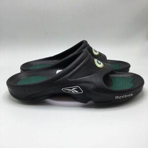 Reebok Mens Slide Sandals Black SZ 13 EUR 47 New Green Bay Packers