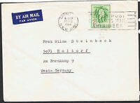 1964 2/3d Wattles white paper on commercial Airmail cover to West Germany MS243