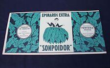 1 grande ancienne étiquette boite conserve épinard Sonpoidor 47,5 *22,5 Vaucluse