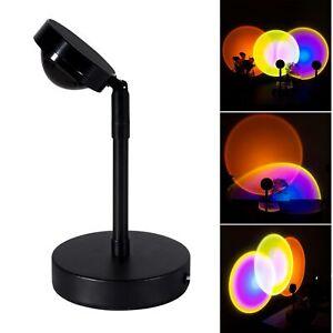 NEW Sunset Projection Light Rainbow USB Led Floor Light Indoor Atmosphere Light