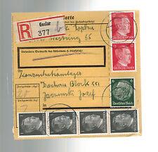 1942 Goslar Germany Parcel Cover to Dachau KZ Concentration Camp Josef Jacominsk