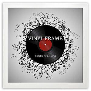 "12"" LP Vinyl Record Frame Square White Memorabilia Oxford Wall Album Art Display"