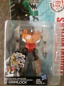 Transformers Warrior Class ~ GOLD ARMOR GRIMLOCK Figure ~ Robots in Disguise