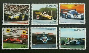 [SJ] Paraguay Racing Cars 1982 Sport Games (stamp) MNH