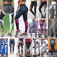 Women Yoga Workout Gym Leggings Fitness Running Sports Pants Stretch Trouser Lot