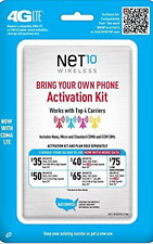 Net10 Bring Your Own Phone Sim Activation Kit - Retail Packaging