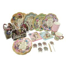 Alice In Wonderland Party Supplies Set Great For Mad Hatter Tea Party Plates Cup