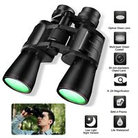 180x100 Zoom Day Night Vision Outdoor Travel Binoculars Hunting Telescope +Pouch
