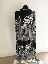 Printed Stripe/Floral Border Design on  Stretch Jersey Fabric --2 metre Piece