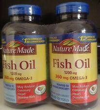 Nature Made Fish Oil 1200 mg, EPA, DHA & 360mg OMEGA-3, 400 Softgels (2 bottles)