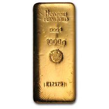 1 kilo Gold Bar - Heraeus - SKU #73951