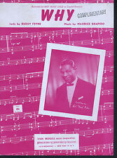 Why 1951 Nat King Cole Sheet Music
