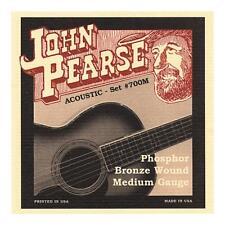 John Pearse 700M Acoustic Strings - Phosphor Bronze, Medium Gauge