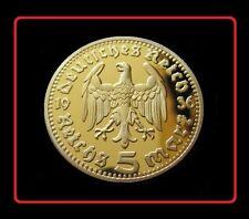 New listing 1936 ReichPresident Hindenburgh 5 Reichsmark German Ww2 Commemorative Medal Coin