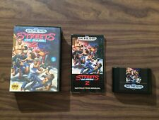 Streets of Rage 2 II (Sega Genesis, 1992) Complete -- Authentic