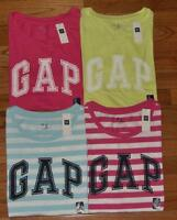 NEW Womens GAP Distressed Arch LOGO T-Shirt Weekend Tee CHOICE of 4 Colors *2Y