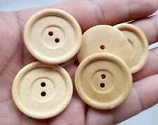 50Pcs camel color wood Sewing Buttons 2holes 30MM