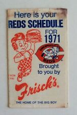 1971 MLB Cincinnati Reds Complete Baseball Schedule  - FLASH SALE