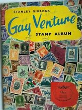 Vintage Stanley Gibbons Gay Venture Stamp Album, 1967, 150+ World Stamps