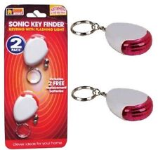 Whistle Lost Key Finder Flashing Beeping Locator Remote Sonic Keychain LED Ring