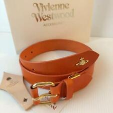 VIVIENNE WESTWOOD ORANGE COWHIDE BELT LADIES UNUSED WITH A TAG ORB MADE IN JAPAN