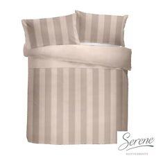 Serene Waffle Stripe Duvet Cover Blush Pink Bedding Pillowcases Super King Size
