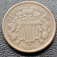 1865 Two Cent Piece 2c Higher Grade #30461