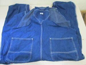 1 Pair LIBERTY Denim Bib Overalls 44 x 30 100% Cotton Work Wear Farmer